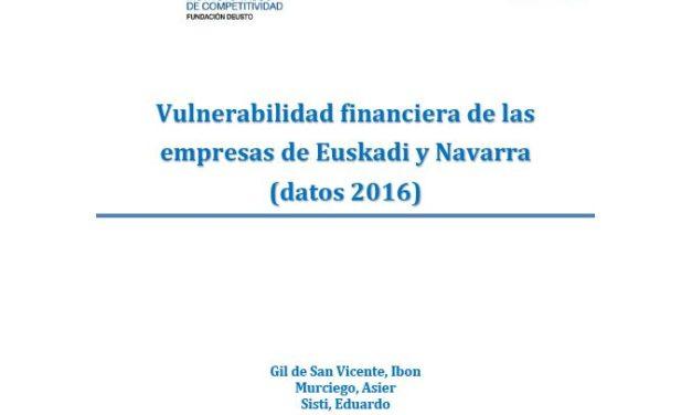 Informe sobre vulnerabilidad financiera de las empresas de Euskadi y Navarra.