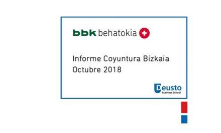 Informe de Coyuntura – Octubre 2018: Comienzan a aparecer síntomas de ralentización en el crecimiento económico de Bizkaia