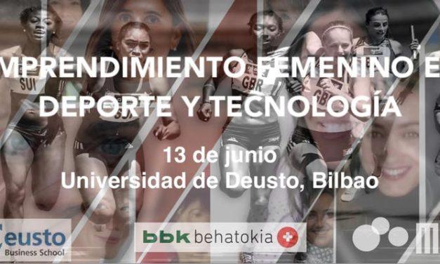 Emprendimiento femenino en deporte y tecnología.