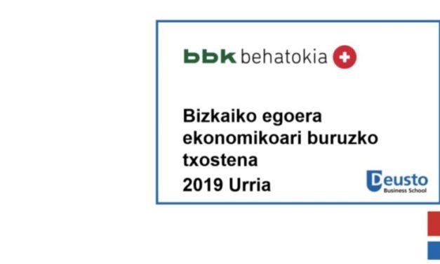 Bizkaiko egoera ekonomikoari buruzko txostena – 2019ko Urria: Gure ekonomian ere,doikuntza hasi da