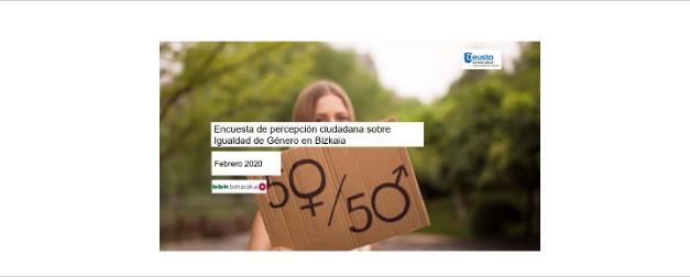 Encuesta de percepción ciudadana sobre igualdad de género en Bizkaia