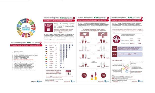 Situación social en Bizkaia y la Agenda 2030, Metas ODS nº 8
