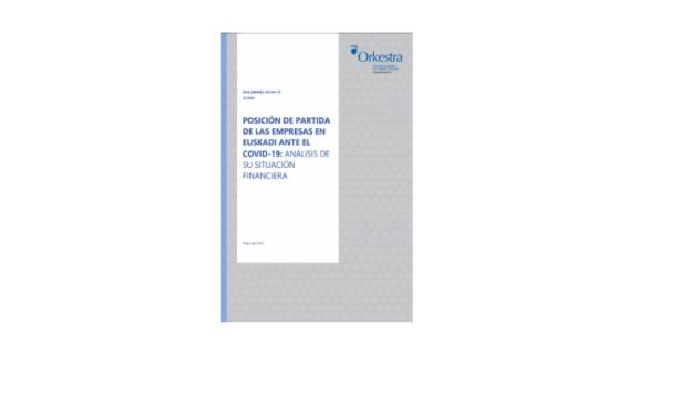Posición de partida de las empresas en Euskadi ante el COVID-19: análisis de su situación financiera