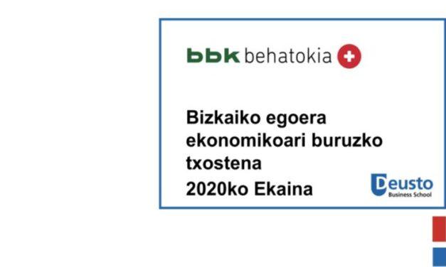 Bizkaiko egoera ekonomikoari buruzko txostena – 2020ko ekaina: konfinamendu-faseak ekonomian duen eragina