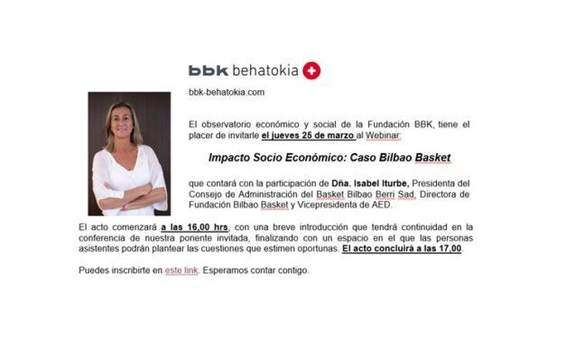 Impacto Socio Económico: Caso Bilbao Basket en directo, hoy a las 16:00 hrs